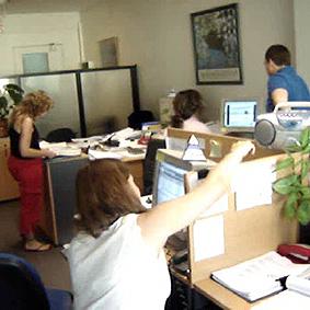 Videos en la oficina